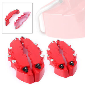 4pcs Front Rear Car Disc Brake Caliper Covers Parts Universal For 18 Wheel Red