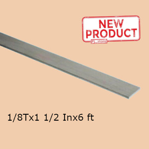 Stainless Steel Flat Bar Stock 1 8 Inch X 1 1 2 X 6 Ft Rectangular Mill Finish