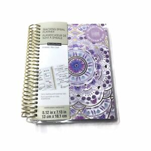 Recollections Tracking Spiral Planner Mini Undated 5 12 x7 13 Floral Cover