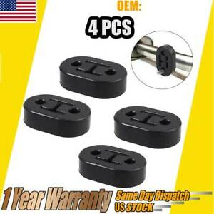 4x Polyurethane Rubber Exhaust Tail Pipe Mount Holder Bracket Hanger Insulator