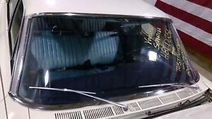 68 Ford Galaxie 500 Complete Front Chrome Windshield Window Pieces Set