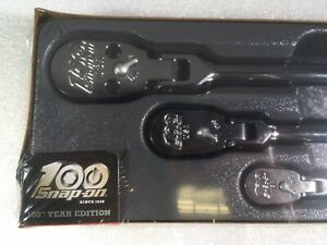 Snap On 100th Year Anniversary Hard Handle Ratchets 3 Pack New In Plastic