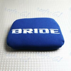 For Head Rest Cushion Bucket Seat Racing Jdm Bride Racing Blue Tuning Pad 1pc