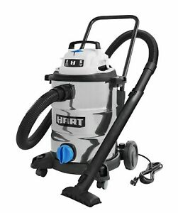 Shop Vac Wet Dry Vacuum 8 Gal 6 0 Hp Stainless Steel With Attachments