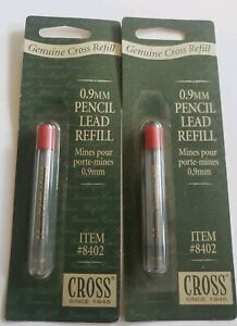 Cross Pencil Lead 0 9mm 8402 Polymeric Leads 12 Leads Per Pack Nos Free Shipping