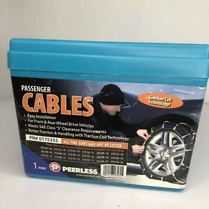 Peerless Passenger Cables 1 Pr Winter Snow Tire Traction Coil Technology Chains
