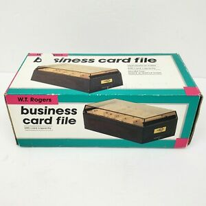 Vtg W t Rogers Business Card File 600 Card Capacity Unused New Open Box Nos