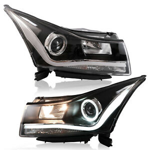Customized Led Headlights With Drl For 2010 2015 Chevrolet Cruze Assembly