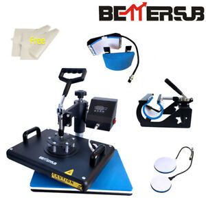 5in1 Combo 15 x12 Heat Press Machine Sublimation Transfer T shirt Mug Plate Hat