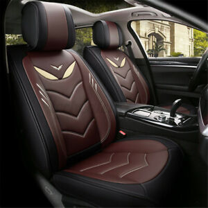 Leather Deluxe 5 Seats Car Full Surrounding Seat Cover Front Cushion Universal