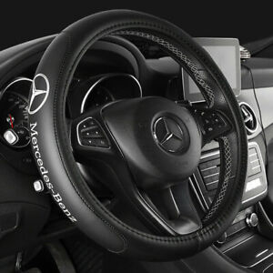 Cowhide Steering Wheel Cover Fit Mercedes Benz Cla200 B250 C180 E300 38cm