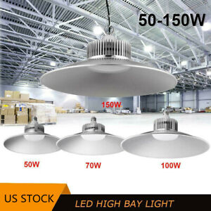 50w 200w Led High Bay Light Commercial Warehouse Factory Gym Lamp Cool White Jk