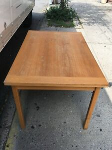 Vtg Danish Modern 60s Brdr Furbo Teak Wood Dining Table Draw Leaf Mid Century