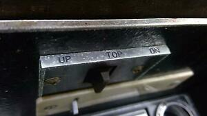 1968 Oldsmobile Cutlass Convertible Top Controls Switches Oem