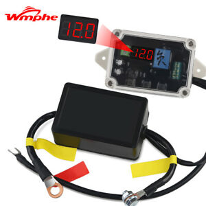 Universal Dual Battery Isolator Kit Negative Pole Truck Vehicle With Voltmeter