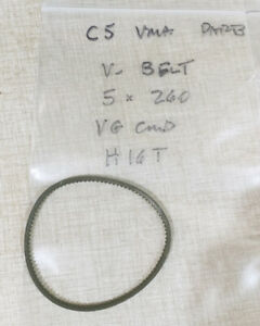 Emco Compact 5 Lathe Vertical Milling Attach Parts 5mm X 260 V belt H16t