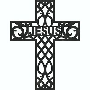 Jesus Cross Sign Plasma Laser Waterjet Router Plotter Cut Vector Cnc Clip Art