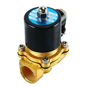 3 4 Npt Electric Brass Solenoid Valve Air Water Normally Closed Solenoid Valve