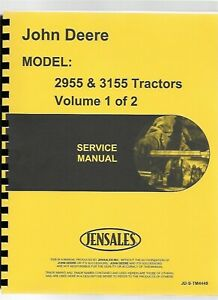 John Deere 3255 2955 3055 3155 Tractor Service Repair Manual Tm4449