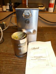 Edlund 2 Speed 302 Electric Can Opener Refurbished Cuts Cans All Sizes