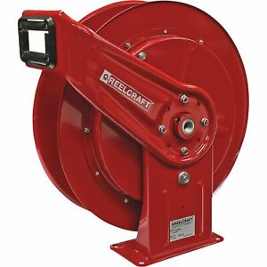 Reelcraft Spring Retractable Air Hose Reel W 3 8inx75ft Hose Max 300 Psi