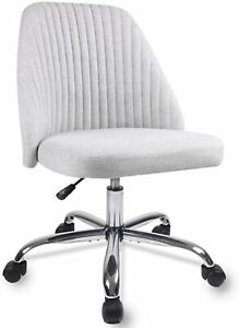 Modern Desk Fabric Home Office Chair Twill Mid back Task Armless Chair Stools