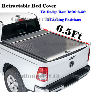 Retractable Roll Up Hard Tonneau Cover For Dodge Ram 1500 6 5ft Bed 2002 2020