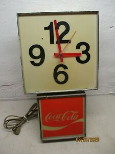 Vintage Lighted Coca-Cola Wall Clock Non-Working