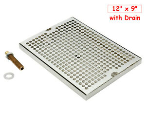 Sanitary Grade Stainless Steel 304 Beer Drip Tray With Brass Drain nipple nut