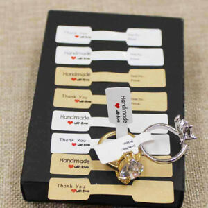 100pcs Hangtag Stickers Jewelry Display Ring Labels Price Tags Self Adhesive New