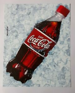 Coca cola Vending Machine Coke 20oz Bottle Label Insert