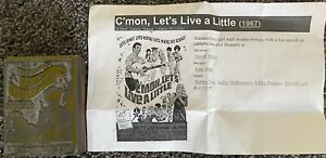 C mon Let s Live A Little Vintage 1967 Wood Movie Ad Printing Press Block Stamp