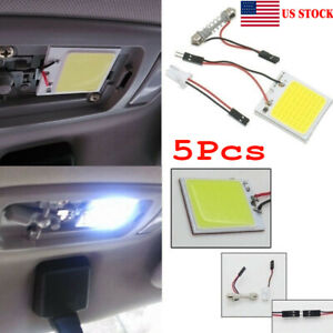 5pcs 48 Smd Cob White Panel Led T10 Car Interior Panel Light Dome Lamp Bulbs Fg