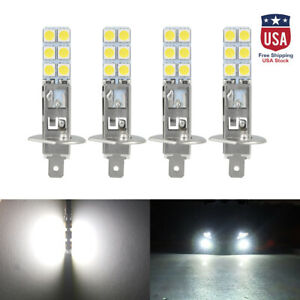 4pcs H1 6000k Super White Cree Led Headlight Bulbs Kit Fog Driving Light Lamp Us