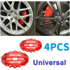 Red 3d Car Disc Brake Caliper Cover Parts Front Rear For 18 3 23 6 Inch Wheels