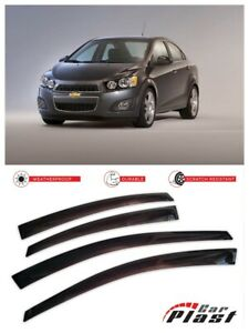 For Chevrolet Aveo 2012 Sedan Window Deflector Visor Vent Rain Wind Guard