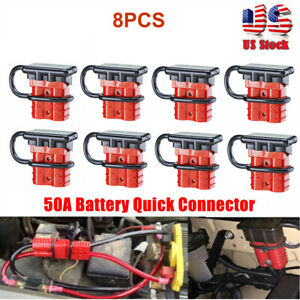 8x 50a Battery Quick Connect Disconnect Connectors Wire Cables Kit Plug Recovery