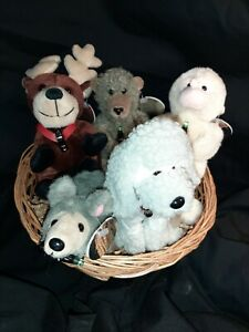 Coca Cola Lot of 5 International Collection Beanie Stuffed Animals w/ Tags