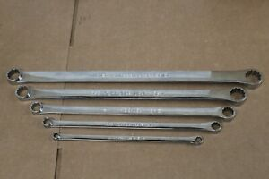 Snap on 5 Piece Sae 12 Point High Performance 0 Offset Box Wrench Set Xdhf605
