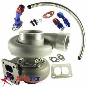 Gt45 600hp T4 t66 3 5 V band 1 05 A r 92 Trim Turbo Charger oil Feed drain Line