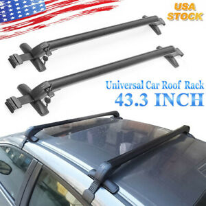 Us Stock Car Top Luggage Roof Rack Cross Bar Carrier Adjustable Window Frame