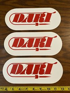 Dart Cylinder Heads Decals 3 Stickers Gm Ford Chevy Performance White