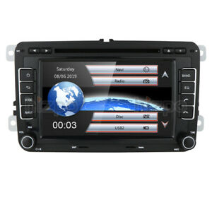 For Vw Volkswagen Jetta Passat Polo 7 2din Gps Car Stereo Dvd Dab Radio Bt Swc