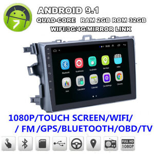9 android 9 1 Quad core 2 32gb Car Stereo Radio Gps For Toyota Corolla 2006 2012