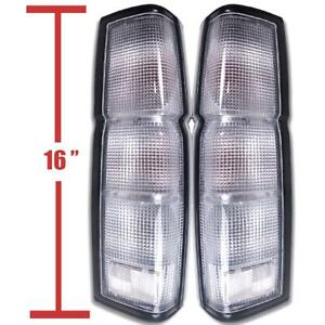 Clear Tail Rear Light Housing Us Model Pair For 86 96 Nissan Frontier Navara D21
