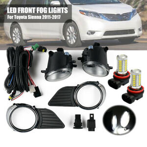 Fog Driving Light Wiring Switch Chrome Cover For Toyota Sienna 2011 2017 Le xle