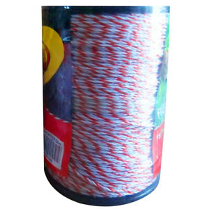 Jn_ 500m 2mm Electric Fence Poly Wire Polywire Red Cattle Horse Fencing Energi