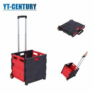 80lb Capacity Rolling Utility Cart With Two Wheel Multifunction Folding Cart
