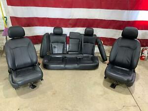 2010 Buick Lacross Black Leather Seat Set Front Rear Heated Ventilated