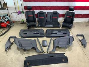 08 14 Dodge Challenger Srt 8 Interior Swap seats Door Panels Quarter Trim
